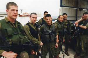 Israeli border guards at the Erez checkpoint