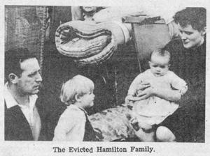 The evicted Hamilton family
