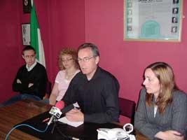 North Belfast SF reps Eoin Ó Broin, Carál Ní Chuilín, Gerry Kelly and Kathy Stanton