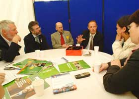 Sinn Féin meet with the ICSA at the National Ploughing Championships