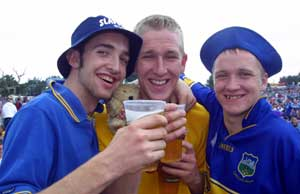 Young people drinking at Slane