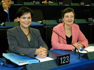 Sinn Féin MEPs Mary Lou McDonald and Bairbre de Brún