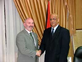 Alex Maskey meets Palestinian chief negotiator Saeb Erekhat