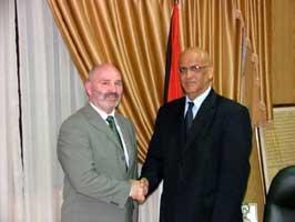 Alex Maskey meets Palestinian chief negotiator Saeb Erekhat
