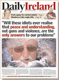 A mock front page for the new paper
