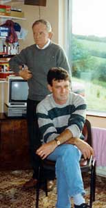 Patrick 'Paddy Doc' Doherty is pictured with his father, Hugh 'Scalper' Doherty, also deceased