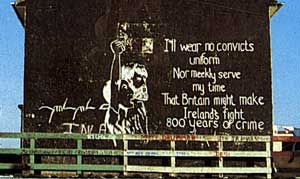 A wall mural from the struggle against criminalisation that culminated in the 1981 hunger strike