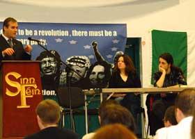 Derry City Mayor Gerry Ó hEára addresses the Ógra National Conference