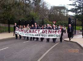 Assembly members protest at Stormont