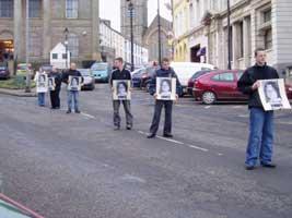 Members of Ógra Shinn Féin in Omagh mark the anniversary of the start of the 1981 hunger strike