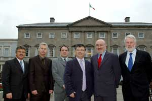 Joe Reilly (centre foreground) with Sinn Fein's TDs