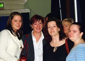 Toiréasa Ní Fhearaíosa, Ann O'Sullivan and Cristín and Orla McCauley pictured during the debate on prisoners at the Ard Fheis