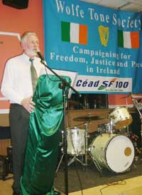Martin Ferris was the guest speaker at the Wolfe Tone Society AGM
