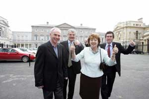 Independent TDs Tony Gregory, Finian McGrath, Catherine Murphy and Jerry Cowley