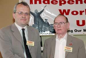 Daniel Callanan with IWU President Jim Cosgrave