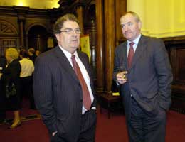 SDLP leader Mark Durkan (right) faces a tough battle to try to hold the Foyle seat vacated by John Hume (left)
