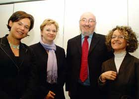 Mary Lou McDonald MEP, Finnish MP Anne Huotari, Caoimghín Ó Caoláin TD and Sandra Piccinini, President of Reggio Emilia Community Childcare Association in Italy