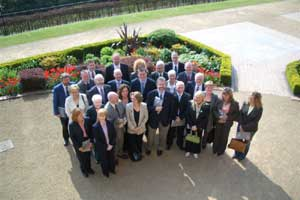 Gerry Adams and a gaggle of Sinn Féin election candidates at Belfast Castle