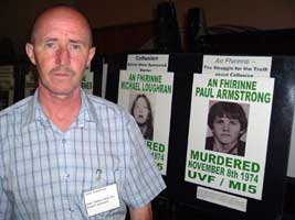 Gerry Armstrong, whose brother Paul was killed in 1974