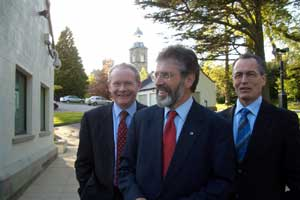 Martin McGuinness, Gerry Adams and Gerry Kelly