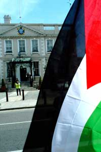 The Ireland Palestine Solidarity Campaign protested outside the Mansion House in Dublin last Thursday, where Israel's Independence Day was being celebrated, to highlight the oppression of Palestinians by the Israeli state