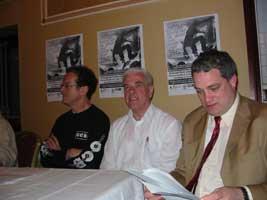 Niall Stokes, Fr Peter McVerry and Aengus Ó Snodaigh TD