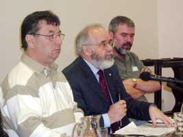 Joe Reilly, Francie Molloy and Seán Oileabhair