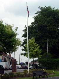 The offending flag in Dunmurry
