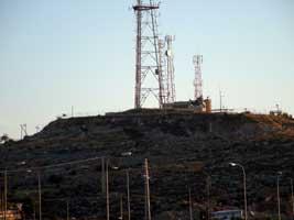 Israeli military spypost in Palestine