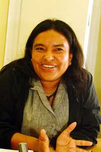 Maria Haydee Bello - member of the Centre for Education in Health and Environment (CESESMA)