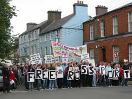 Protests calling for the release of the Rossport 5