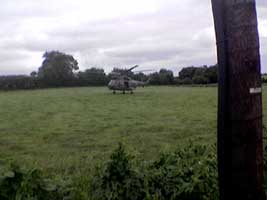 British Army helicopter makes illegal landing in the 26 Counties