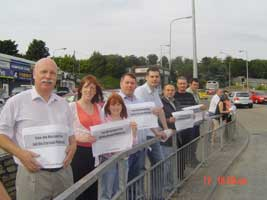 Protestors make their views known in Letterkenny