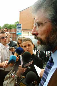 Gerry Adams at Parnell Square, Dublin on Friday 15 July