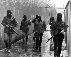 IRA patrol in West Belfast in the 1980s