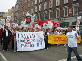 Dublin protestors on last Friday's day of action