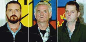 Niall Connolly, Jim Monaghan and Martin McCauley