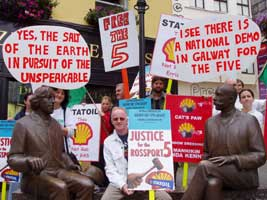 Galway protestors in support of the Rossport 5