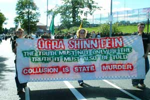 Ógra protesting against state collusion