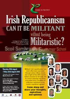 Poster for Coiste Summer School