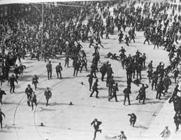 Workers attacked by police during the 1913 Lockout