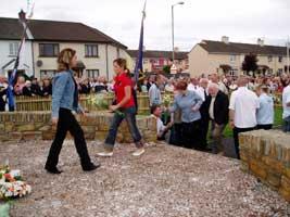 Fallen IRA volunteers and republicans honoured in Creggan in Derry City