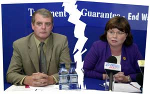 John Minihan and Mary Harney splitting apart?