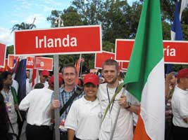 Irish activists at the World Festival of Youth and Students in Caracas Venezuela