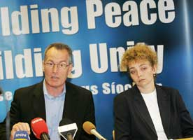 Sinn Féin's Gerry Kelly and Caral Ní Chuillín launched a report detailing the scale of unionist paramilitary violence