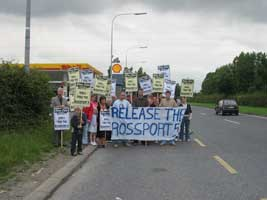 Supporters of the Rossport 5 stage protests all over the country