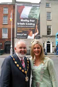 Francie Molloy, mayor of Dungannon and Toiréasa Ferris, mayor of Kerry