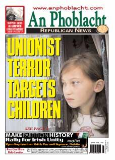 Unionist terror targets children