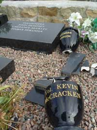 Milltown graves desecrated