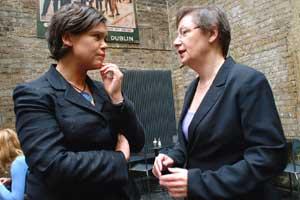 Mary Lou McDonald MEP and Bairbre de Brúin MEP